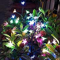 أضواء زينة في الهواء الطلق موفا الشمسية ، أضواء جميلة LED تعمل بالطاقة الشمسية مناظر طبيعية شجرة ، مصباحين لوضع على ممر الفناء الفناء على سطح الممر ديكور عيد الميلاد