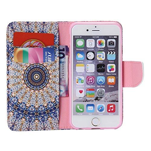 PU für Apple iPhone 6 (4.7 Zoll) Hülle,Farbe geprägt Geprägte Handyhülle / Tasche / Cover / Case für das Apple iPhone 6 (4.7 Zoll) PU Leder Flip Cover Leder Hülle Kunstleder Folio Schutzhülle Wallet T 7