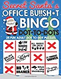 Secret Santa's Office Bu!!sh*t Bingo Dot To Dots: Fun adult puzzles