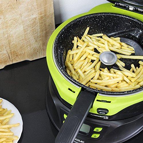 Cecotec Freidora Dietetica sin Aceite Turbo CecoFry 4D. Cocina sin Aceite, 8 Menús Ajustables en Tiempo y Temperatura (100-240ºC), Cocina a 2 niveles, Pala Mezcladora, Incluye Recetario, 1350 W
