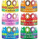 30 Pezzi 100 Giorni Corone di Carta, 6 Colori 100 Giorni di Scuola Strass Corona di Carta Cappelli da Festa di Carta per 100 Giorni di Scuola Celebrazione Festa Aula Forniture, 15,7 x 3,9 Pollici