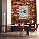 WINOMO Vintage Metall Zinn Zeichen Plaque Wand Kunst Poster Cafe Bar-Pub-Bier