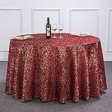 William 337 Runde Tischdecke Hochzeit Farbe Tischdecken Hotel, Restaurant Restaurant Runde große Tischdecken Haushalt Tischdecken Mode Einfache Tischdecken (Farbe : C, größe : Round -180 cm)