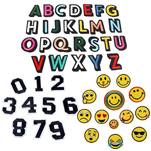 49unidades parches letra alfabeto A-Z número 0-9Emoji