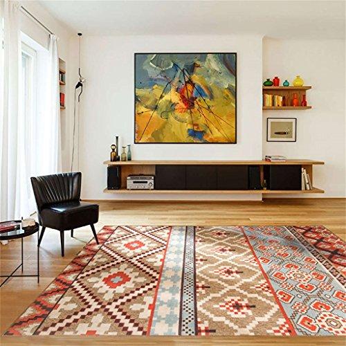 L&Y tapis Simple fashion folk-custom living room Tapis Maçonnerie de table de table Tapis de moquette Non-Slip Mat (taille : 140CM×200CM)