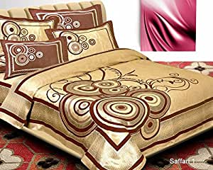 chenille bedsheet(Premium Chenille 1 Double Bedsheet With 2 Pillow Cover, size -Bedsheet- 230x250 cms, pillow -45x70 cms)