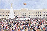 Posterlounge Alu Dibond 180 x 120 cm: Crowds Around The Palace, 1995 di Judy Joel/Bridgeman Images