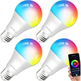 ANTELA Bombilla LED Inteligente WiFi E27 Sin Necesidad de Hub Compatible Alexa, Echo y Google Home, Bombilla LED 9W 806lm Equ