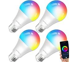 Lampadine LED Alexa Inteligente WiFi E27 [2021Edition], Dimmerabile Lampadina ANTELA Smart 9W 806ML 80W equivalente, RGB & 27