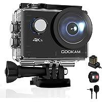 GOOKAM Go 2 Action Cam 4K 20MP Unterwasserkamera 40M Wasserdicht Kamera Actionkamera WiFi Helmkamera mit 2.4G…