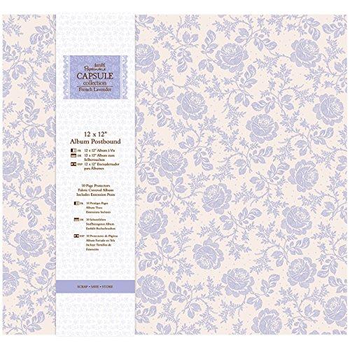 Docrafts Papermania Buchschraubenalbum Französischer Lavendel, 30,5x 30,5cm