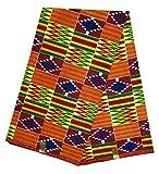 HITARGET Wax Pagne Tissu Africain Kinte Kente Kita Collection Original 6 Yards imprimé Top qualité 100% Pur Coton réf AD