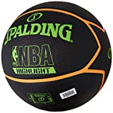 The Spalding NBA Highlight outdoor basketball has a cool and exclusive design showing the NBA and Spalding logos as well. This size 7 outdoor basketball is made to last with its durable rubber and it delivers solid grip and control and excell...