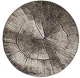 Runde Teppiche - Ibiza Tree (grau) Größe Rund 240 cm