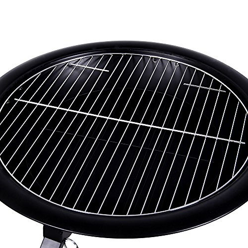 Home Discount Large Fire Pit Steel Folding Outdoor Garden Patio Heater Grill Camping Bowl BBQ With Poker, Grate, Grill, Mesh Lid