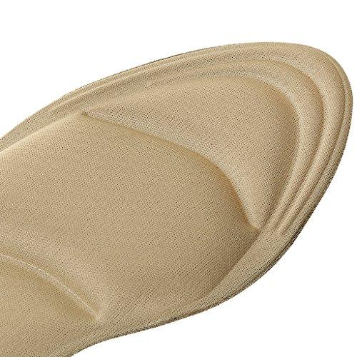 MagiDeal 4D Schwamm Massage Einlegesohlen mit Arch-Support und Fersenstütze, Komfort und Atmungsaktiv Hautfarbe