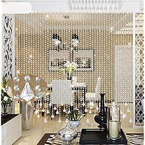 Starsglowing 5Pcs 1M Kristall Perlen Girland Octagon Bead Garland Anhänger Hochzeit House Office Dekoration Partei Dekor…