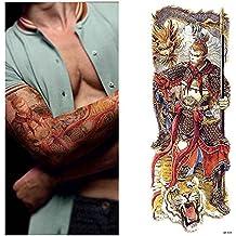 1 Pieza temporary tattoo Sticker Nun chica orar diseño lleno de flores grandes de arte corporal brazo falso tatuaje adhesivo nuevo,QB 3036