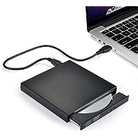 Rts External DVD Player USB 2.0 CD DVD Combination Drive Slim Portable CD DVD-ROM for Laptop PC (CD Burner/DVD Player)