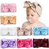 8 piezas 5 pulgadas bebé niñas lazos para el cabello diademas de nailon cinta de grosgrain banda para el cabello accesorios e