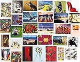 Blanko-Grußkarten, 30 verschiedene Motive, 30 Stück