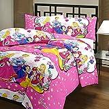 Kalaplanet Kids 3 Princess Single Bedshe...