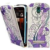 HTC Desire 500 Premium Leder Flip Case - Violett