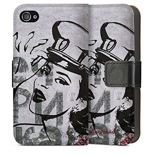 Apple iPhone 4 Housse Étui Silicone Coque Protection Fashion Mode Sideflip Sac