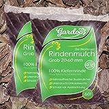 PALIGO Rindenmulch Mulch Garten Dekor Pinus Natur Wald Kiefer Grob 20-60mm 70l x 36 Sack (2.520l / 1 Palette) inkl. Versand