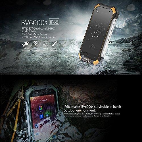 Blackview BV6000s 4G LTE Smartphone IP68 Impermeable a Prueba de Choques a Prueba de Polvo  4 7  HD Pantalla 64Bit MT6735A Quad-core 1 3GHZ 2GB 16GB 8