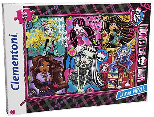 Clementoni 29684.2 - Puzzle Glitter - Freakly Flaws Monster High, 200 - Film-monster-spielzeug
