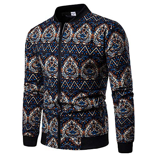 Amphia - Herren Sweat-Jacke Winterjacke,Männer Plus Size Mode gedruckt Reißverschluss Pullover Langarm Sweatshirt Tops Bluse