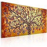 murando handgemalte Bilder Baum 140x70cm Gemälde 1 TLG orange gelb schwarz 92012
