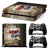46 North Design Playstation 4 PS4 Folie Skin Sticker Konsole Army aus Vinyl-Folie Aufkleber Und 2 x Controller folie