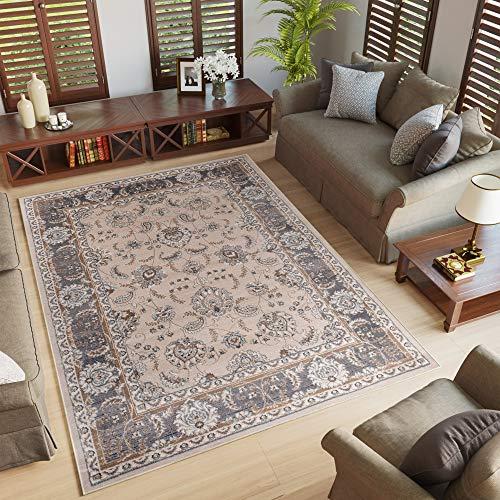 Tapiso colorado tappeto salotto moderno soggiorno chiaro beige motivo floreale orientale tradizionale 200 x 300 cm