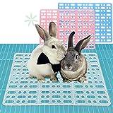 Hongyh - Juego de 2 alfombrillas de conejo para jaulas, conejos, cobayas, hámster y otros pequeños animales para jaula, para evitar enfermedades de la piel de mascotas