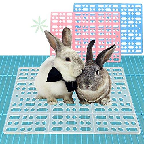 Draht Mesh Regale (Haustier kleine Ratte WC, quadratische Töpfchen Trainer Ecke Wurf Bettwäsche Box Pet Pan für Kleintiere / Kaninchen / Meerschwein / Galasaur / Frettchen (zufällige Farbe))
