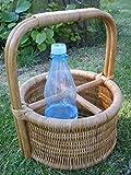 Flaschenkorb aus Rattan für 4 Flaschen