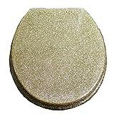 S-graceful WC-Sitze Golden Toilettendeckel Mit Langsamer Harnstoff-Formaldehyd-Harz Ultra Resistant Top Fixed U/V/O-Form Kompatibler WC-Sitzbezug,Gold-40~48cm*33~38cm