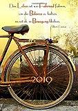 """dicker Tagebuch Kalender 2019 """"Das Leben ist wie Fahrrad fahren, um die Balance zu halten musst du in Bewegung bleibten"""" (Albert Einstein): DIN A4 - 1 Tag = 1 Seite - edition cumulus"""