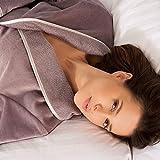 Produkt-Bild: Bademantel IRIS mit Schalkragen taupe - (4321COL302)