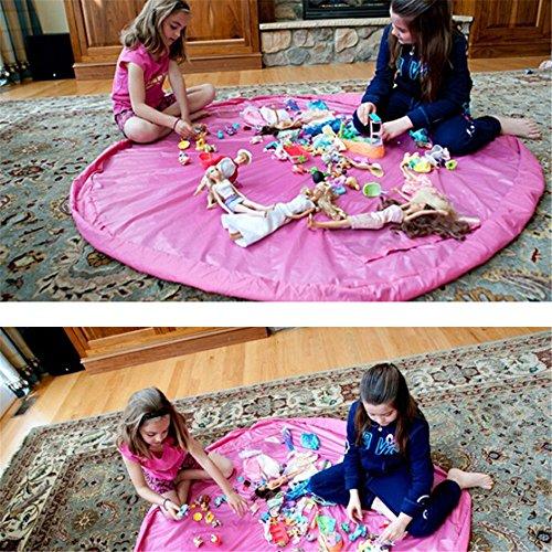 panniuzhe Kinder Play Matte Faltbare Baby Spielzeug Aufbewahrung erhalten Tasche für Home, Outdoor Picknick, Strand Teppich über 152,4cm Rot (Strand-taschen-teppich)