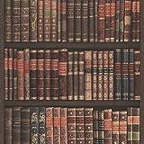 Rasch Bücherregal Muster Tapete Bücher Kasten Bibliothek Faux-effekt - Weinrot 525809