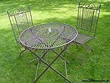 Gartentisch Landhaus Tisch Eisentisch Bistrotisch Garten rund Stuhl