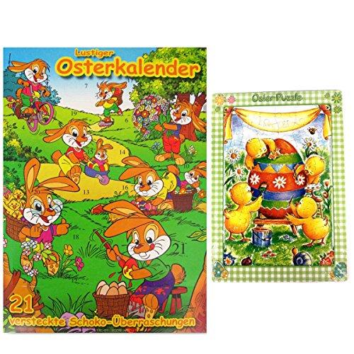 Preisvergleich Produktbild Osterkalender Kinder Wawi und Oster Puzzel Osterei Ostern Easter Calendar Pâques Calendrier