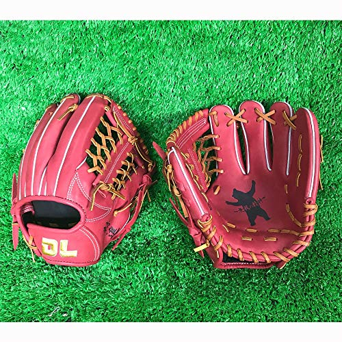Baseball-Handschuh11,25 Zoll Professionelle Ball Pitcher Hand Gamer Serie Leder Pocket Mitt Rot Infield rechte Hand werfen Catchers Handschuhe,11.25right