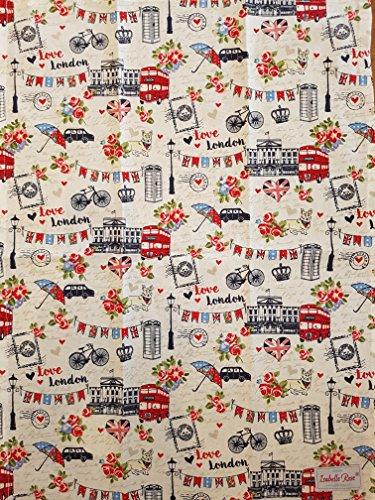 Isabelle Rose - London Love - Geschirrtuch IRLON03 - 50 x 70 cm - 100% Baumwolle