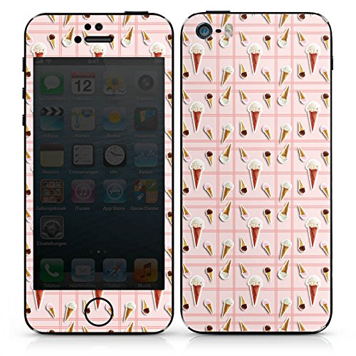 Apple iPhone SE Case Skin Sticker aus Vinyl-Folie Aufkleber Ice Cream Eis Creme Sommer DesignSkins® glänzend