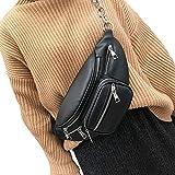FiveloveTwo Damen Mode PU Leder Umhängetaschen Schultertaschen Bauchtasche Hüfttasche Gürteltasche für Sports Reise Alltag Bauchtasche Tasche Crossbody Shoulder Bag