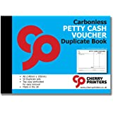 Cherry Carbonless NCR Petty Cash Voucher Duplicate Books A6 50 Sets
